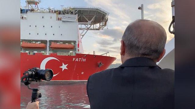 Cumhurbaşkanı Erdoğan, Fatih'i böyle uğurladı: Allah kazadan beladan muhafaza etsin