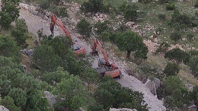 PKK'lı teröristler Cudi'de kalekol inşaatına saldırdı