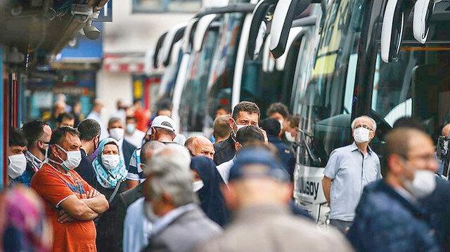 Otobüste izdiham var: HES kodu otobüsle seyahatlerde de şart olacak