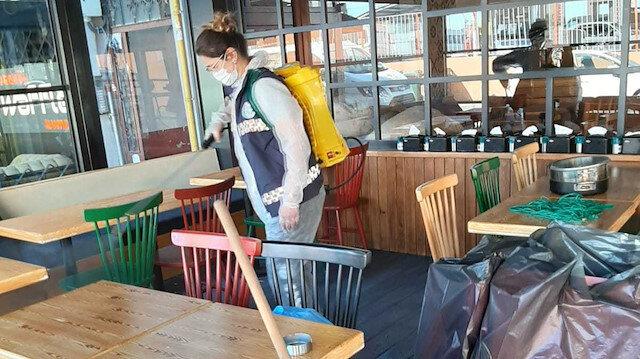 Açılacak olan işletmelere ücretsiz dezenfekte yapılıyor