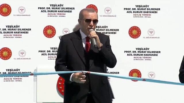 Cumhurbaşkanı Erdoğan Prof. Dr. Murat Dilmener Acil Durum Hastanesi'nin açılışını yaptı