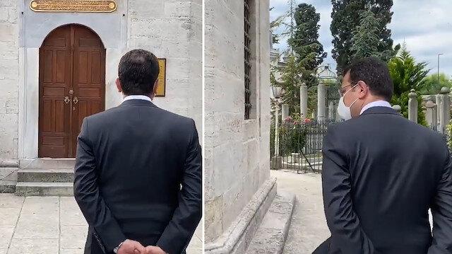 İBB Başkanı Ekrem İmamoğlu'nun ciddiyetsiz türbe ziyareti tepki çekti