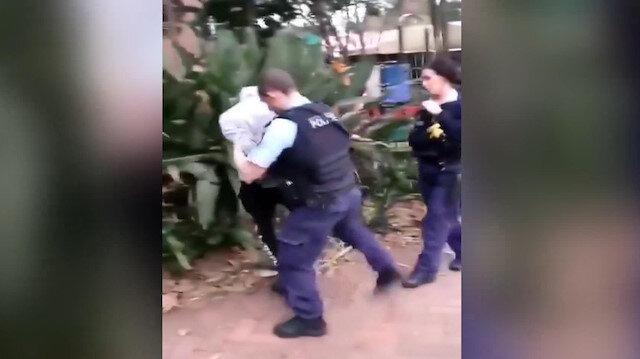 Avustralya polisi siyahi genci çelme takarak gözaltına aldı
