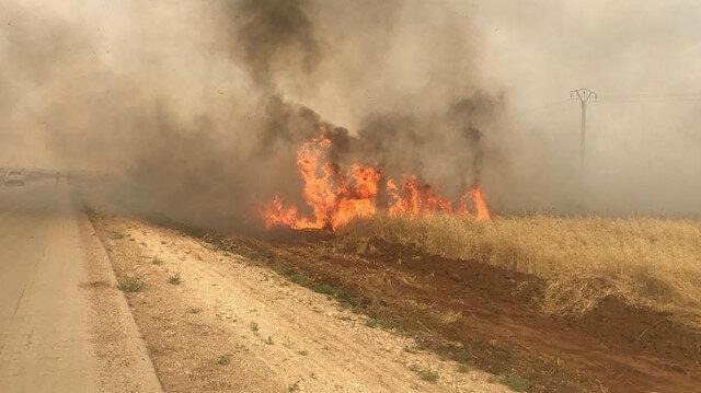 PKK/YPG'den kirli plan: EYP yerleştirdikleri tarım arazisinde yangın çıkardılar
