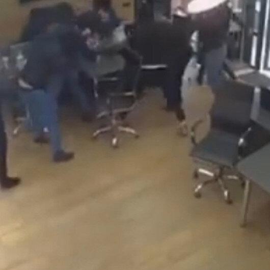 İki grup arasında silahlı kavga kamerada