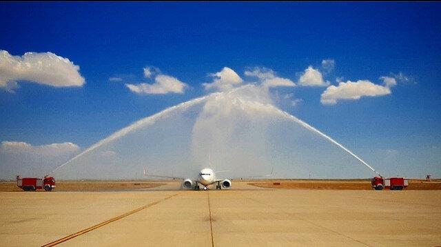 Adıyaman'a 70 gün aradan sonra ilk uçuş
