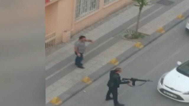 Tüfekle etrafa ateş açan saldırganı polis etkisiz hale getirdi
