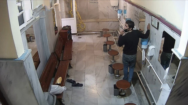 Pes dedirten hırsızlık: Caminin musluklarını çaldı