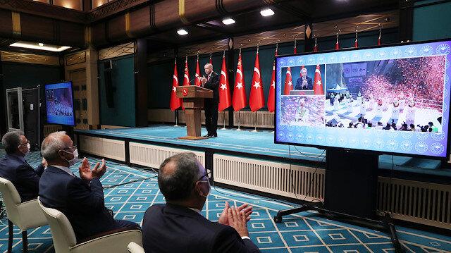 Cumhurbaşkanı Erdoğan Yusufeli Barajının 3 Milyonuncu Beton Dökümü Törenine canlı bağlantıyla katıldı