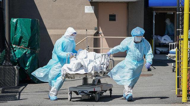 ABD'de bilanço düşmüyor: 24 saatte 1200 kişi koronavirüs kurbanı