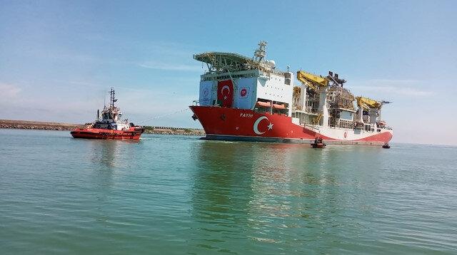 Fatih Sondaj Gemisi 4 saatlik çalışmanın ardından Trabzon Limanı'na giriş yaptı