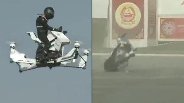 Dubai polisinin hava aracı test sürüşünde yere çakıldı