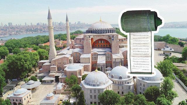 Yeni Şafak o salona girdi: İşte Ayasofya'nın tapusu