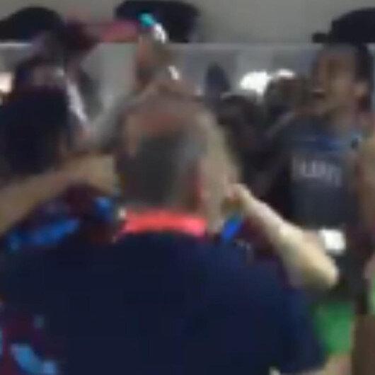 Trabzonsporlu oyuncuların final sevinci