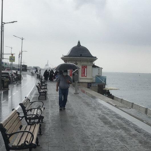 Anadolu Yakasında beklenen yağmur başladı