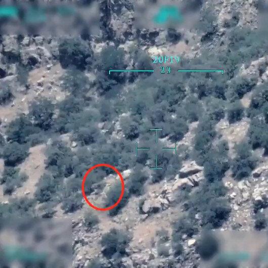 MSB paylaştı: PKKlı teröristin havaya uçurulma anı SİHA kamerasında
