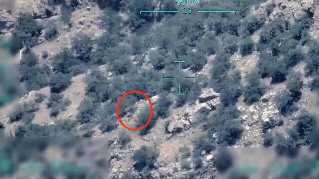 MSB paylaştı: PKK'lı teröristin havaya uçurulma anı SİHA kamerasında