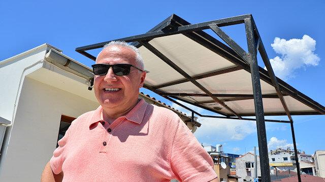Balkona kurdu: 7 yıldır elektrik faturası ödemiyor