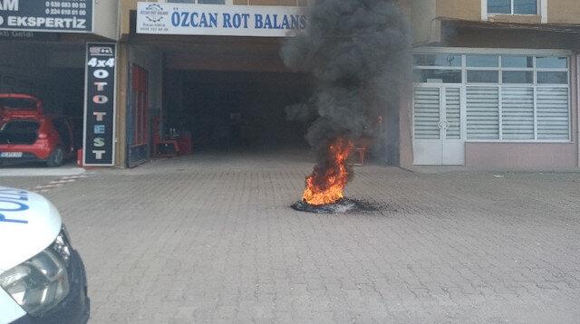 Okan Kocuk'un babası Alper Ulusoy'a kızdı lastik yaktı