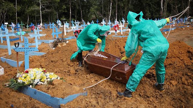 Koronavirüs salgınında üç ülkede ölümler zirve yaptı: Son 24 saatte Brezilya'da 641, Meksika'da bin 44, Hindistan'da 445 kişi öldü