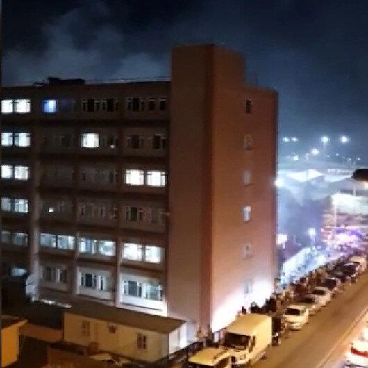 Samatyadaki İstanbul Eğitim ve Araştırma Hastanesinde yangın