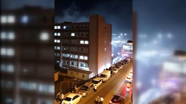 Samatya'daki İstanbul Eğitim ve Araştırma Hastanesi'nde yangın