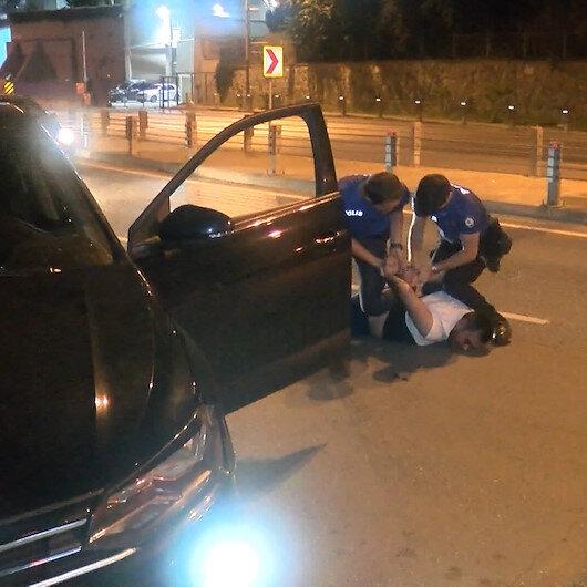 Polisin dur ihtarına uymayarak kaçan sürücü kıskıvrak yakalndı