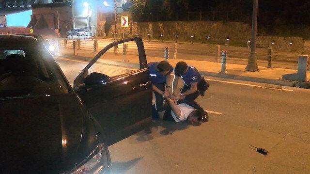 Polisin 'dur' ihtarına uymayarak kaçan sürücü kıskıvrak yakalndı