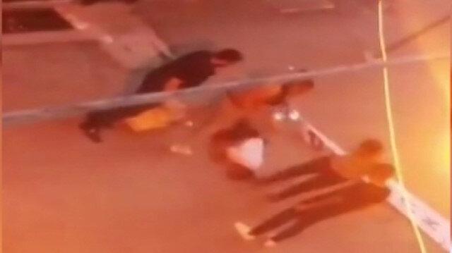 Samsun'da sokak ortasında darp edilen gencin görüntüsü ortaya çıktı