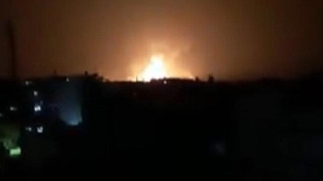 İşgalci İsrail'e ait savaş uçakları Suriye'yi vurdu: 14 ölü