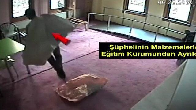 Özel okula girerek hırsızlık yapan kişi yakalandı