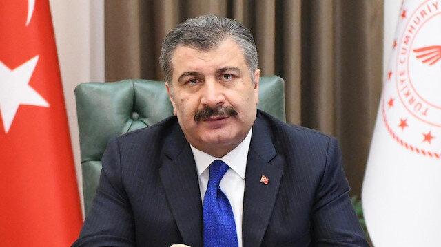 Sağlık Bakanı Fahrettin Koca, basın toplantısı düzenliyor