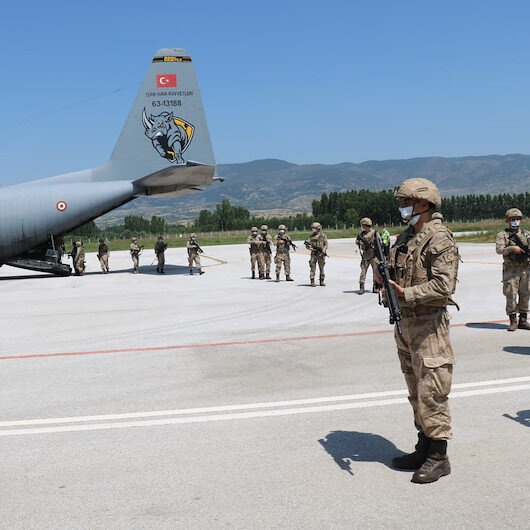 Barış Pınarı Harekatı bölgesinde görev yapan Boralar yurda döndü