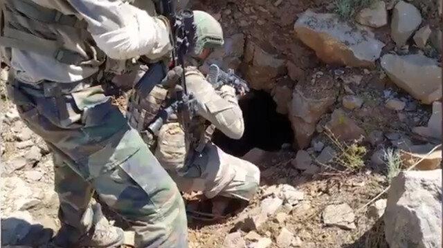 Pençe Kaplan Operasyonunda teröristlerin ağır silah mevziisi olarak kullandığı 150 metrelik tünel imha edildi