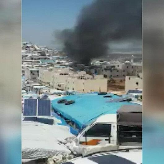 Mülteci kampında yangın