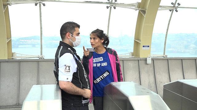Metroya maskesiz binmek isteyen kadın ortalığı birbirine kattı: Güvenlik görevlisine hakaretler yağdırıp tehdit etti