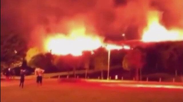 Bornova'da korkutan yangın