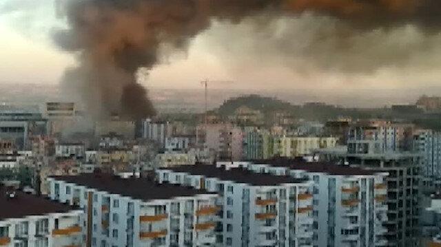 Dev yangın şehrin her tarafından görüldü
