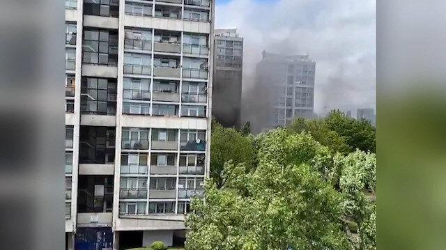 On altı katlı apartmanda korkutan yangın