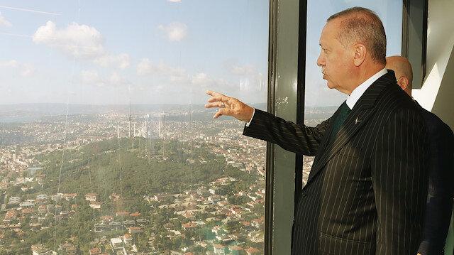 Cumhurbaşkanı Erdoğan'dan sürpriz ziyaret: Çamlıca Kulesi'ni yerinde inceledi