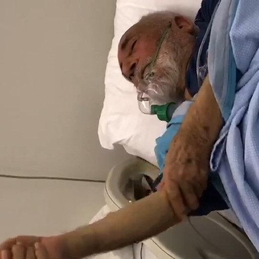 Hasta yatağında narkozun etkisiyle abdest alan yaşlı amcanın videosu izlenme rekoru kırıyor