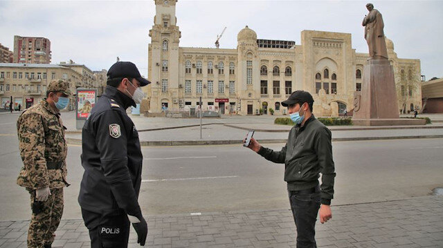 Azerbaycan'da son 24 saatte 534 koronavirüs vakası görüldü
