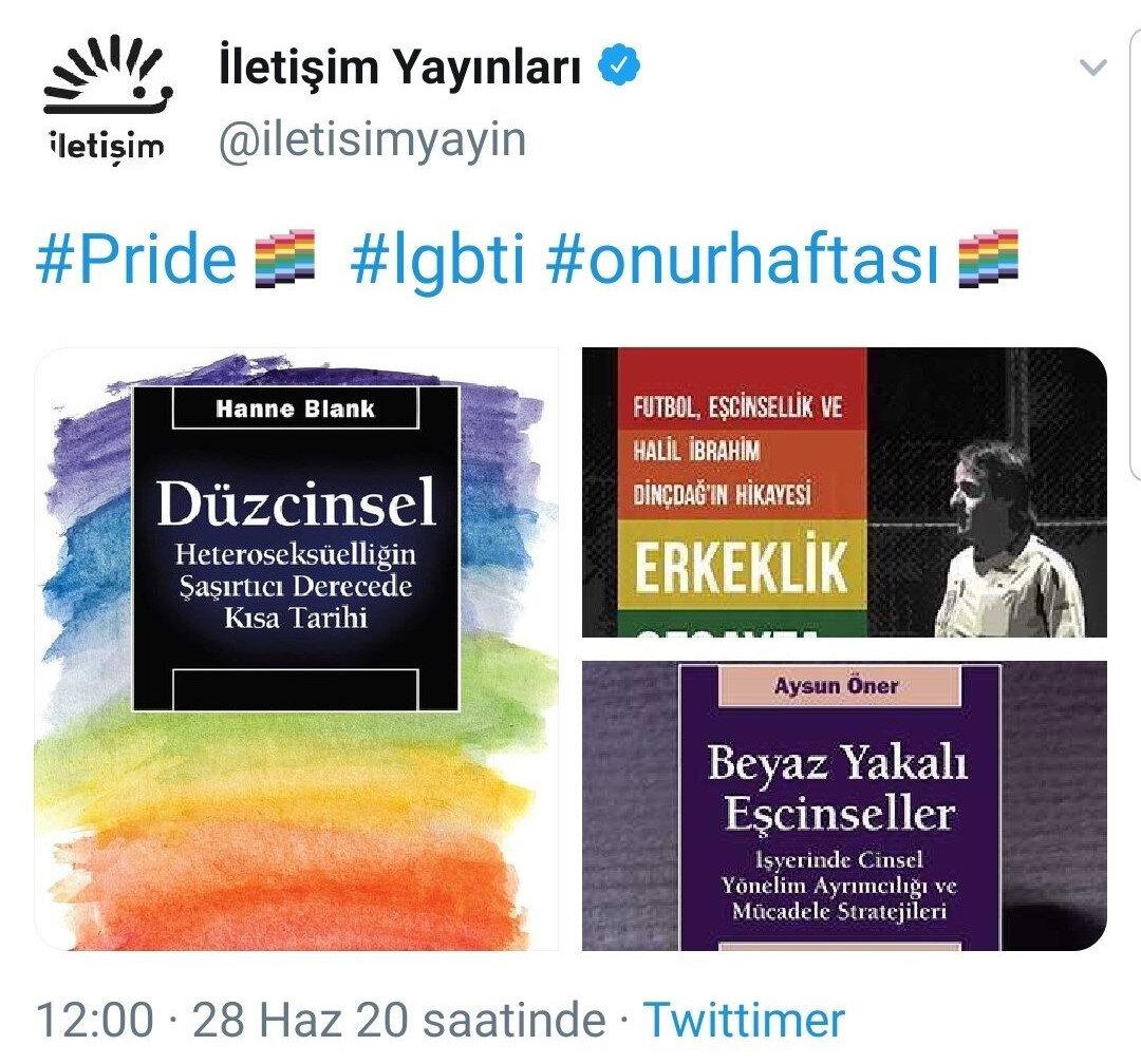 İletişim Yayınlarının sosyal medya paylaşımı.