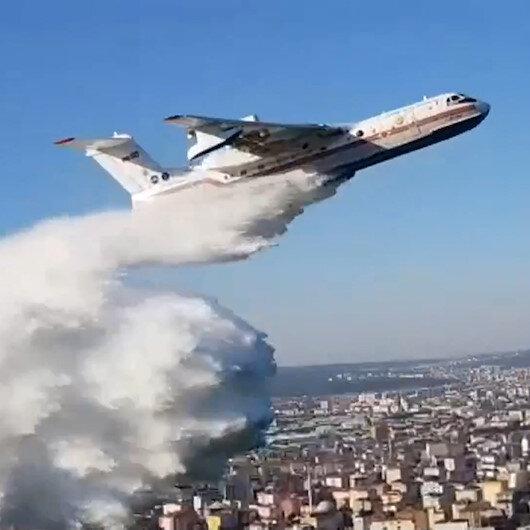 Amfibik yangın söndürme uçağı İstanbul'da ilk kez kullanıldı