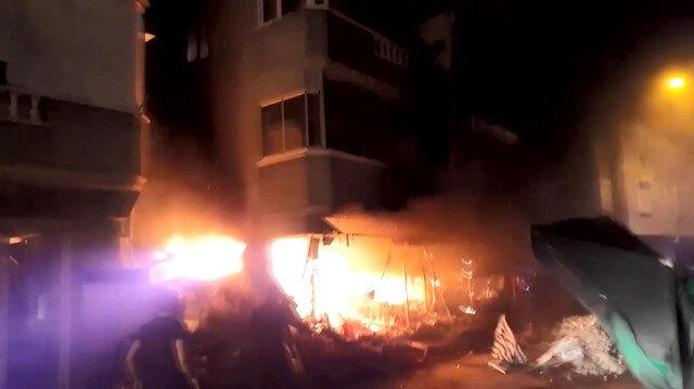 Bursa'da çiçekçi yangını tüm mahalleyi ayağa kaldırdı