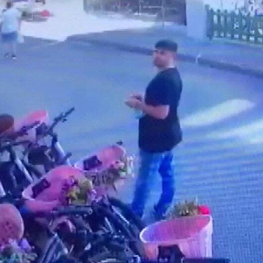 Güvenlik kamerasına baka baka bisiklet çaldılar
