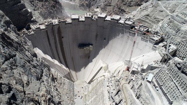Artvin Yusufeli Barajı'nın gövde yüksekliğinde 214 metreye ulaşıldı