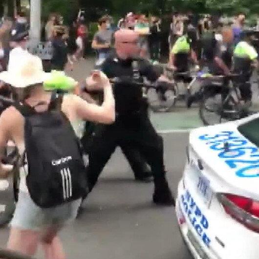 ABD polisi onur yürüyüşü rezaletine müdahale etti