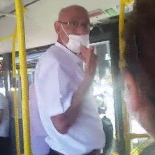 Otobüste telefonla konuşurken maskeyi çenesine indirince tartışma çıktı