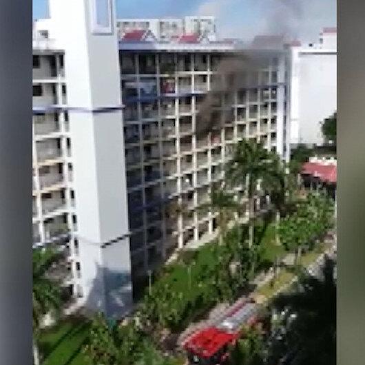 Singapurda dev yangın: 150 kişi tahliye edildi